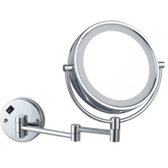 Double Face Round LED 5x Magnifying Mirror, Hardwired Nameeks AR7705-CR-5x