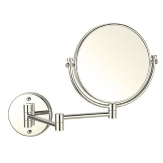 Makeup Mirror Satin Nickel Double Sided Wall Mounted 3x Makeup Mirror Nameeks AR7707-SNI-3x