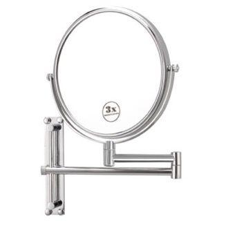 Makeup Mirror Round Wall Mounted Double Face 3x Shaving Mirror Nameeks AR7708