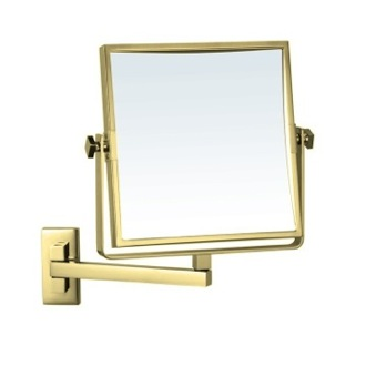 Makeup Mirror Gold Square Wall Mounted 3x Makeup Mirror AR7709-O-3x Nameeks AR7709-O-3x