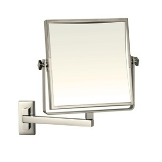 Makeup Mirror Satin Nickel Square Wall Mounted 3x Makeup Mirror AR7709-SNI-3x Nameeks AR7709-SNI-3x