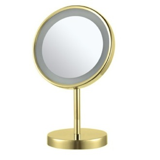 Makeup Mirror Gold Round Free Standing 3x LED Makeup Mirror AR7711-O-3x Nameeks AR7711-O-3x