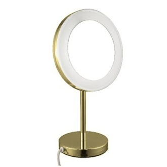 Makeup Mirror Gold Free Standing Lighted 3x Makeup Mirror AR7712-O Nameeks AR7712-O