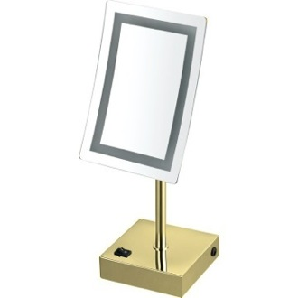 Makeup Mirror Gold Single Face LED 3x Makeup Mirror Nameeks AR7715-O-3x