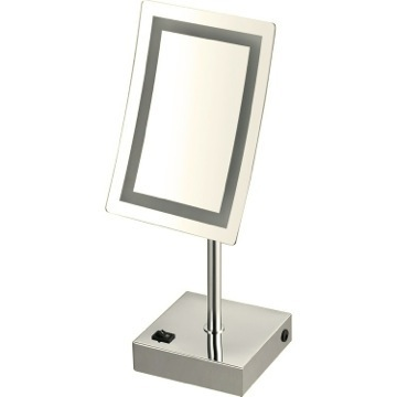Makeup Mirror Satin Nickel Single Face LED 3x Makeup Mirror AR7715-SNI-3x Nameeks AR7715-SNI-3x