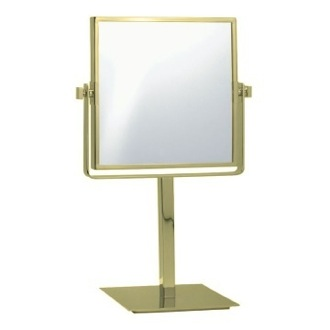 Makeup Mirror Gold Square Double Sided 3x Makeup Mirror AR7717-O Nameeks AR7717-O