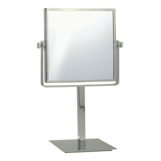 Makeup Mirror Satin Nickel Square Double Sided 3x Makeup Mirror AR7717-SNI Nameeks AR7717-SNI