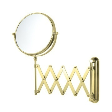 Makeup Mirror Gold Double Sided Adjustable Arm 3x Makeup Mirror Nameeks AR7720-O-3x