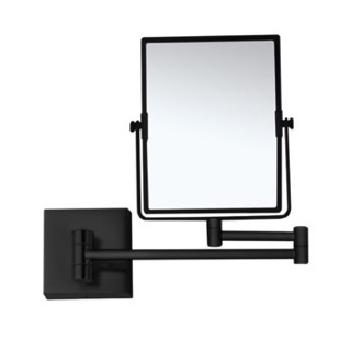 Matte Black Double Face 5x Wall Mounted Magnifying Mirror Nameeks AR7721-BLK-5x
