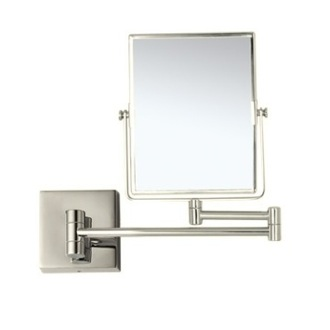 Satin Nickel Double Face 3x Wall Mounted Magnifying Mirror Nameeks AR7721-SNI-3x