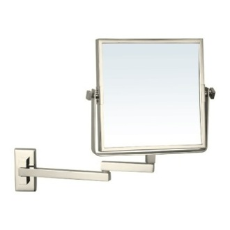 Makeup Mirror Satin Nickel Square Wall Mounted Double Face 3x Makeup Mirror AR7722-SNI Nameeks AR7722-SNI