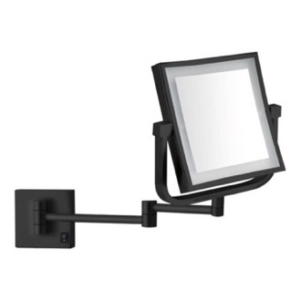 Matte Black Double Face LED 5x Magnifying Mirror, Hardwired Nameeks AR7730-BLK-5x