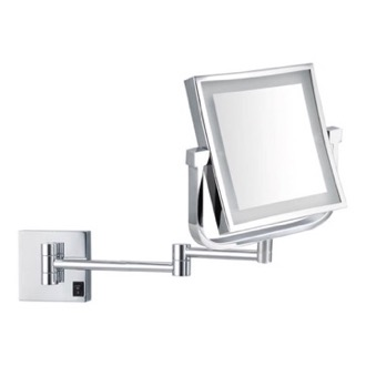 Double Face LED 5x Magnifying Mirror, Hardwired Nameeks AR7730-CR-5x