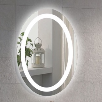20 x 28 Inch Illuminated Oval Vanity Mirror Nameeks ARROV