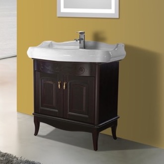 Bathroom Vanity 31 Inch Floor Standing Calvados Vanity Cabinet With Fitted Sink Nameeks MI-F03