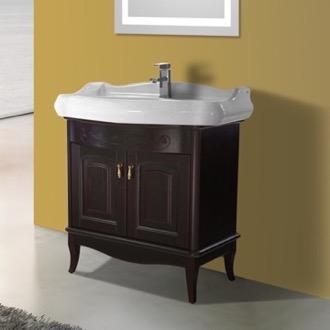Bathroom Vanity 31 Inch Floor Standing Calvados Cabinet With Ed Sink Nameeks Mi F03