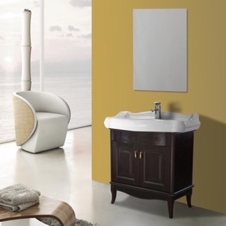 Bathroom Vanity 31 Inch Calvados Floor Standing Bathroom Vanity Set, Vanity Mirror Included Nameeks MI-F49