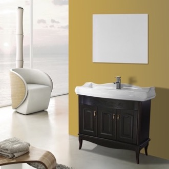 Bathroom Vanity 39 Inch Calvados Floor Standing Bathroom Vanity Set, Vanity Mirror Included Nameeks MI-F76