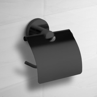 Matte Black Toilet Paper Holder With Cover Nameeks NCB66