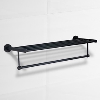 24 Inch Matte Black Towel Rack Nameeks NCB69