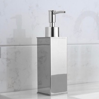 Square Modern Chrome Soap Dispenser Nameeks NCB82