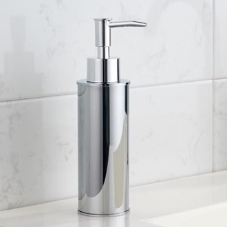 Round Modern Chrome Soap Dispenser Nameeks NCB84