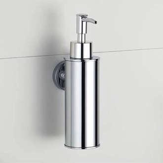 Wall Mounted Round Chrome Soap Dispenser Nameeks NCB86