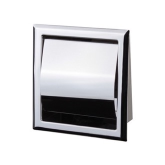 Chrome Recessed Toilet Paper Holder With Cover Nameeks NFA010