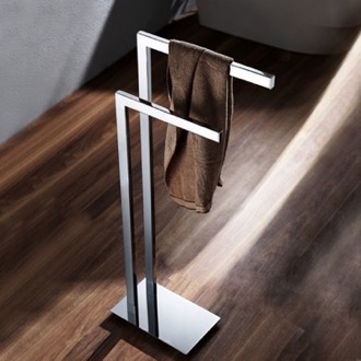 Chrome Floor Standing Towel Stand Nameeks NFA015