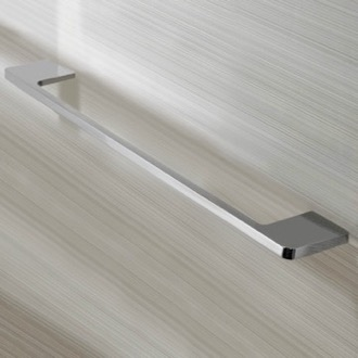 Rectangular 18 Inch Towel Bar in Chrome Finish Nameeks NNBL0057