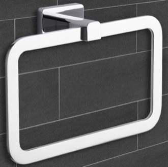 Modern Chrome Towel Ring Nameeks NCB16