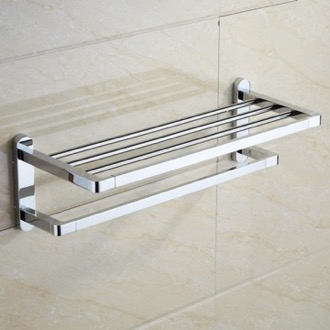 Polished Chrome Towel Rack Nameeks NCB21