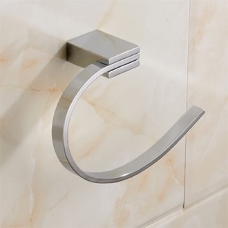 Modern Chrome Towel Ring Nameeks NCB32