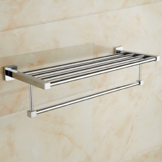 Polished Chrome Towel Rack Nameeks NCB49