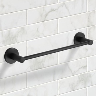 13 Inch Modern Matte Black Towel Bar Nameeks NCB53