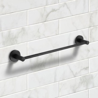 19 Inch Matte Black Towel Bar Nameeks NCB54