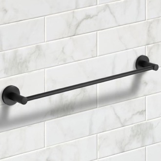 25 Inch Matte Black Towel Bar Nameeks NCB55
