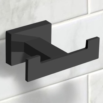 Modern Matte Black Bathroom Hook Nameeks NCB56