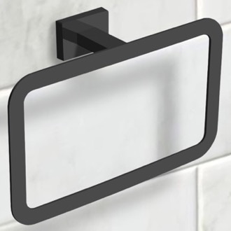 Modern Matte Black Towel Ring Nameeks NCB57