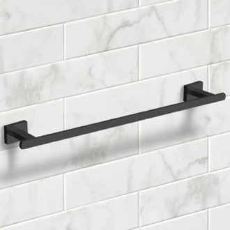 21 Inch Modern Matte Black Towel Bar Nameeks NCB59