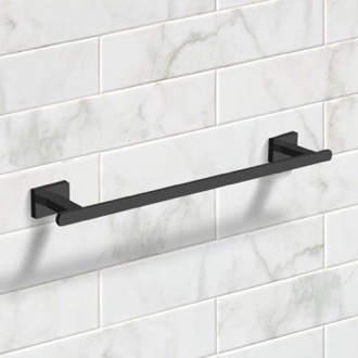 18 Inch Matte Black Towel Bar Nameeks NCB60
