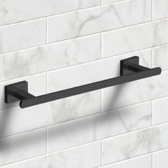 12 Inch Matte Black Towel Bar Nameeks NCB61