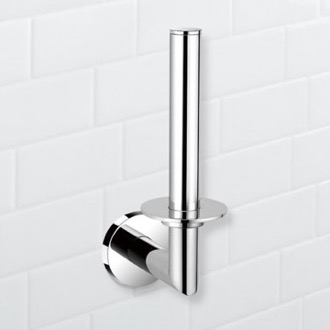 Round Chrome Vertical Toilet Paper Holder Nameeks NFA005
