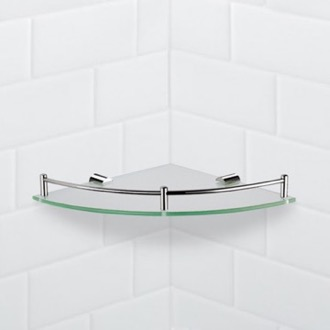 Corner Glass Shelf With Chrome Mounting Nameeks NFA012