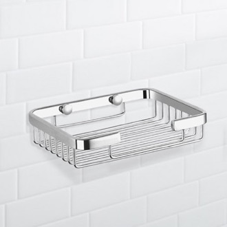 Chrome Wire Shower Basket Nameeks NFA018