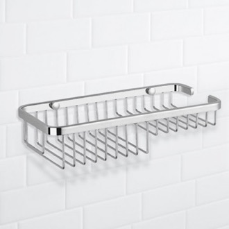 Shower Basket Chrome Wall Mounted Wire Shower Basket Nameeks NFA020