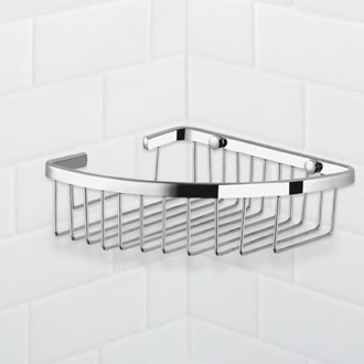 Chrome Corner Wire Shower Basket Nameeks NFA022