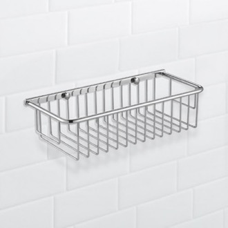 Wall Mounted Chrome Wire Shower Basket Nameeks NFA024
