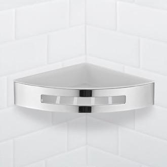 Wall Mounted Chrome Corner Shower Basket Nameeks Nfa025