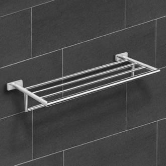 Polished Chrome Towel Rack Nameeks NNBL0018